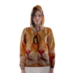 Cat Red Cute Mackerel Tiger Sweet Hooded Wind Breaker (Women)