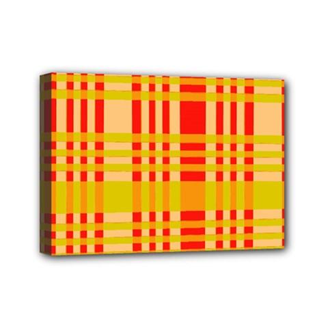 Check Pattern Mini Canvas 7  X 5  by Nexatart