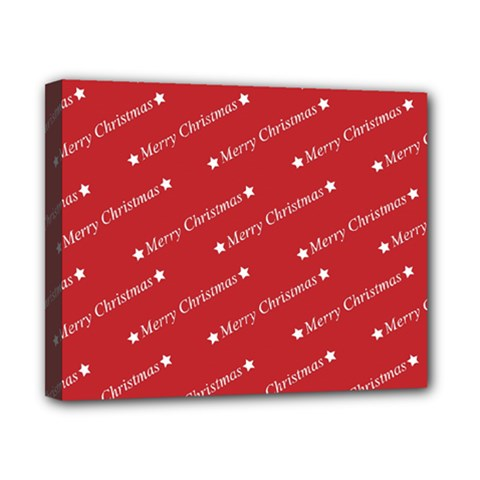 Christmas Paper Background Greeting Canvas 10  x 8  by Nexatart