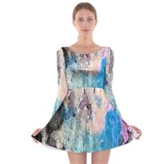 Peelingpaint Long Sleeve Skater Dress by theunrulyartist