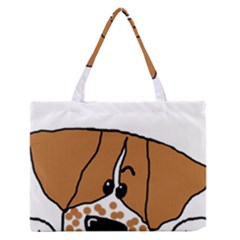 Peeping Brittany Spaniel Medium Zipper Tote Bag by TailWags