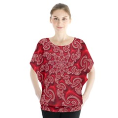 Fractal Art Elegant Red Blouse by Nexatart