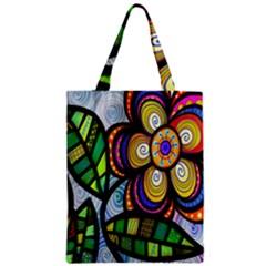 Folk Art Flower Classic Tote Bag by Nexatart