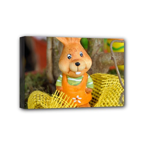 Easter Hare Easter Bunny Mini Canvas 6  X 4  by Nexatart