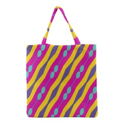 Blue Bead Chains                                                   Grocery Tote Bag by LalyLauraFLM