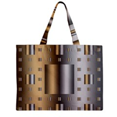 Gold Silver Carpet Zipper Mini Tote Bag by Jojostore
