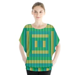 Pattern Grid Squares Texture Blouse by Nexatart