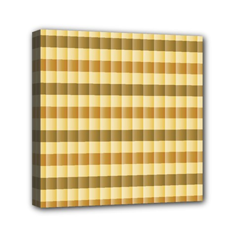Pattern Grid Squares Texture Mini Canvas 6  x 6  by Nexatart
