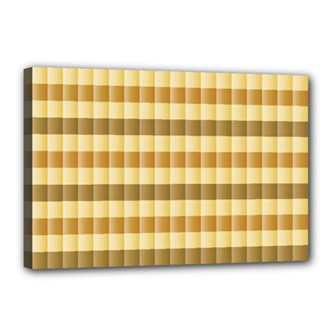 Pattern Grid Squares Texture Canvas 18  x 12  by Nexatart