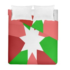 Star Flag Color Duvet Cover Double Side (Full/ Double Size) by Jojostore