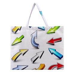 Three Dimensional Crystal Arrow Zipper Large Tote Bag by Jojostore