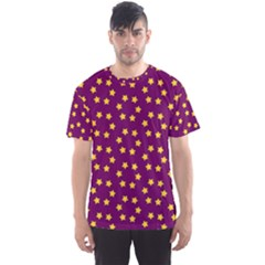 Star Christmas Red Yellow Men s Sport Mesh Tee