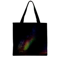 Starry Sky Galaxy Star Milky Way Zipper Grocery Tote Bag by Nexatart