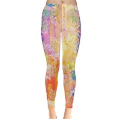 Watercolour Watercolor Paint Ink  Leggings  by Nexatart