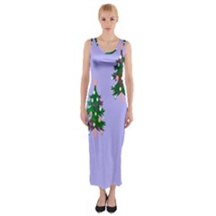 Watercolour Paint Dripping Ink  Fitted Maxi Dress by Nexatart