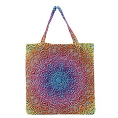 Tile Background Pattern Texture Grocery Tote Bag