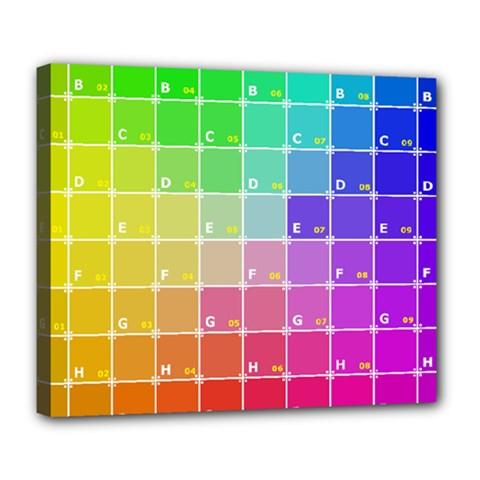 Number Alphabet Plaid Deluxe Canvas 24  X 20   by Jojostore