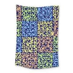 Puzzle Color Small Tapestry by Jojostore
