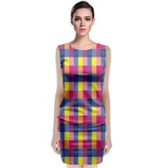 Sheath Malay Sarong Motif Classic Sleeveless Midi Dress