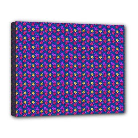 Beach Blue High Quality Seamless Pattern Purple Red Yrllow Flower Floral Deluxe Canvas 20  X 16   by Jojostore