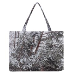 Winter Fall Trees Medium Zipper Tote Bag by ansteybeta