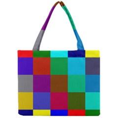 Chessboard Multicolored Mini Tote Bag by Jojostore