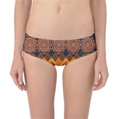 African Pattern Deer Orange Classic Bikini Bottoms by Jojostore