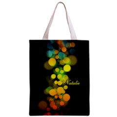 Bokeh Colorful  Classic Tote Bag by makeunique