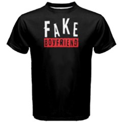 Fake Boyfriend   Men s Cotton Tee by FunnySaying
