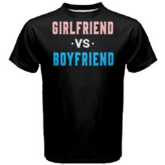 Girl friend vs boy friend - Men s Cotton Tee by FunnySaying
