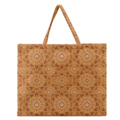 Intricate Modern Baroque Seamless Pattern Zipper Large Tote Bag by dflcprints