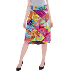Colorful Hipster Classy Midi Beach Skirt by Brittlevirginclothing