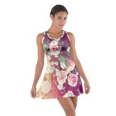 pink pastel roses Cotton Racerback Dress