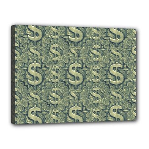 Money Symbol Ornament Canvas 16  x 12