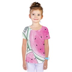 Cute Watermelon Kids  One Piece Tee by Brittlevirginclothing
