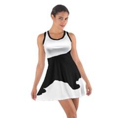 English Cocker Spaniel Silo Black Cotton Racerback Dress