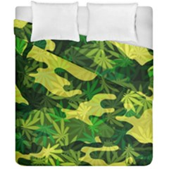 Marijuana Camouflage Cannabis Drug Duvet Cover Double Side (california King Size) by Amaryn4rt