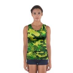 Marijuana Camouflage Cannabis Drug Women s Sport Tank Top  by Amaryn4rt