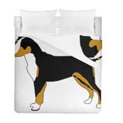 Entlebucher Mt Dog Silo Color Duvet Cover Double Side (Full/ Double Size) by TailWags
