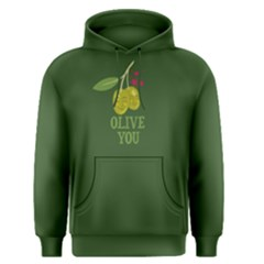 Green Olive you Men s Pullover Hoodie