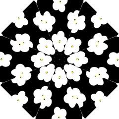 April Fun Pop Floral Flower Black White Yellow Rose Hook Handle Umbrellas (small) by Jojostore