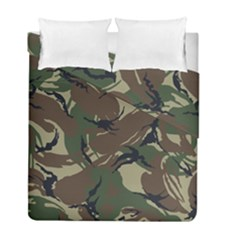 Army Shirt Grey Green Blue Duvet Cover Double Side (Full/ Double Size) by Jojostore