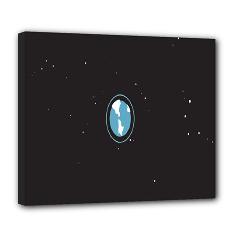 Earth Universe Natural Space Galaxy Deluxe Canvas 24  X 20   by Jojostore