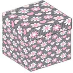 Flower Floral Rose Sunflower Pink Grey Love Heart Valentine Storage Stool 12   by Jojostore