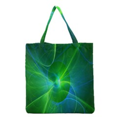 Line Green Light Grocery Tote Bag by Jojostore