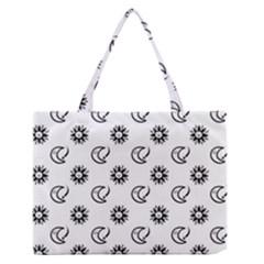 Month Moon Sun Star Medium Zipper Tote Bag