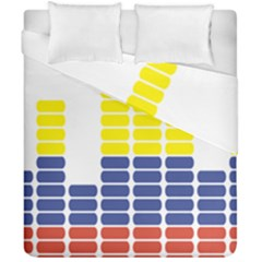 Volumbia Olume Circle Yellow Blue Red Duvet Cover Double Side (california King Size) by Jojostore