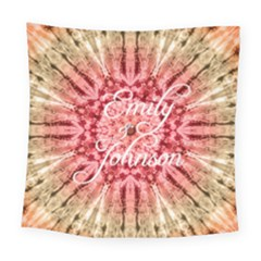 Red Tie Dye Square Tapestry (large) by makeunique