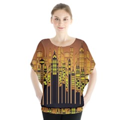 Buildings Skyscrapers City Blouse by Nexatart