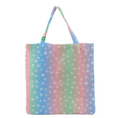 Christmas Happy Holidays Snowflakes Grocery Tote Bag by Nexatart
